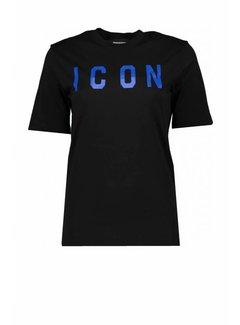 1. DSQUARED2 Dsquared2 icon shirt zwart-blauw