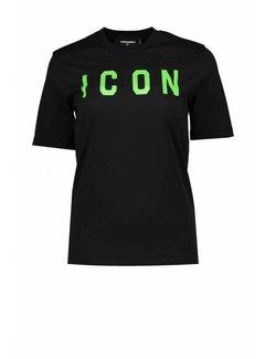 1. DSQUARED2 Dsquared2 icon shirt zwart-groen