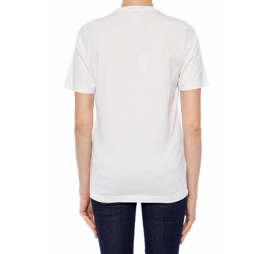 Dsquared2 wit renny fit shirt met gezichten opdruk