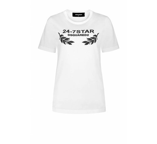 1. DSQUARED2 Dsquared2 wit t-shirt 24/7star