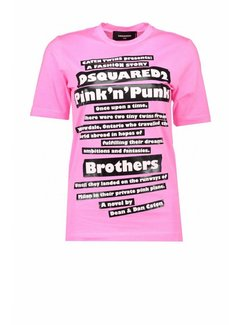1. DSQUARED2 Dsquared2 t-shirt punk 'n roll Roze