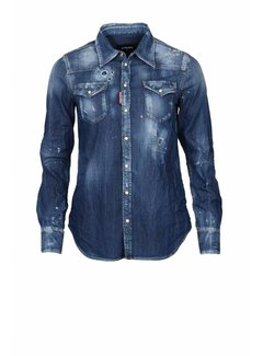1. DSQUARED2 Dsquared2 denim blouse blauw
