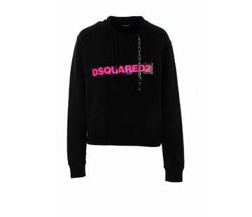 1. DSQUARED2 Dsquared sweaters met ketting in kraag zwart