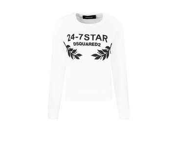 1. DSQUARED2 Dsquared2 anita fit 24-7 star sweater wit