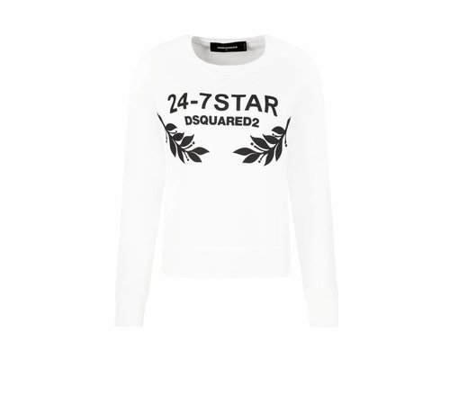 1. DSQUARED2 Dsquared2 witte anita fit 24-7 star sweater