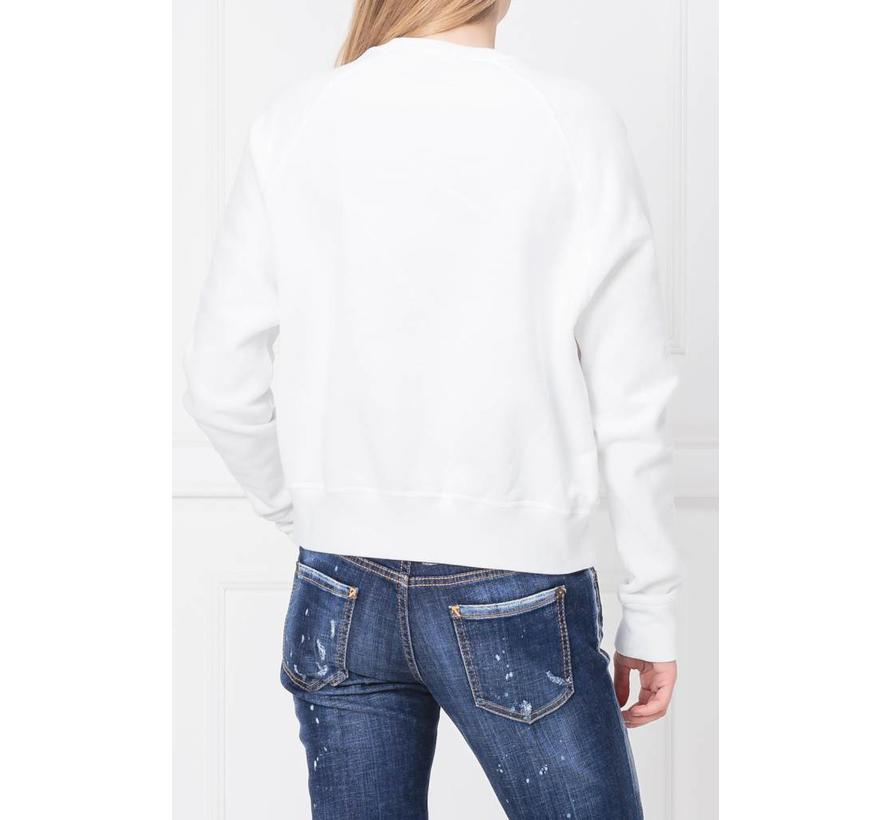 Dsquared2 witte anita fit 24-7 star sweater