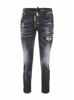 Dsquared2 Dsquared2 jeans met grove rits Grijs