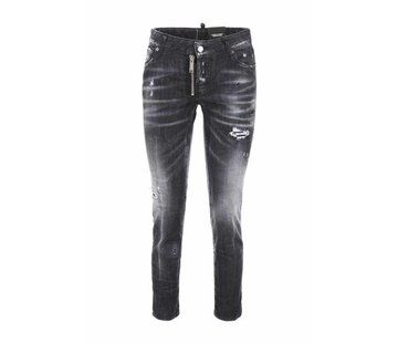 1. DSQUARED2 Dsquared2 jeans met grove rits Grijs