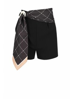 Elisabetta Franchi Elisabetta Franchi shorts met sjaalriem zwart
