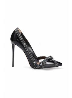 2. ELISABETTA FRANCHI Elisabetta Franchi pumps met logo en opengewerkte stukken zwart