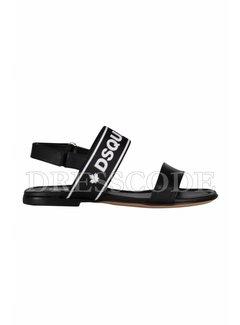 1. DSQUARED2 Dsquared2 sandaal met merknaam Zwart