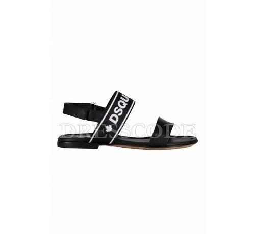1. DSQUARED2 Dsquared2 zwarte sandaal met merknaam