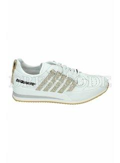 1. DSQUARED2 Dsquared2 sneaker met gouden strepen Wit