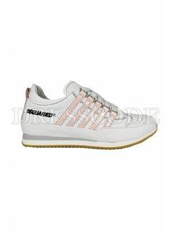 1. DSQUARED2 Dsquared2 sneaker met roze strepen Wit