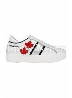 1. DSQUARED2 Dsquared2 sneaker met zilver en rode blad Wit