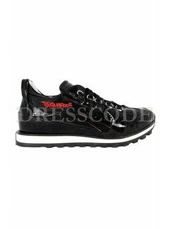 1. DSQUARED2 Dsquared2 sneaker in lak met rood logo Zwart