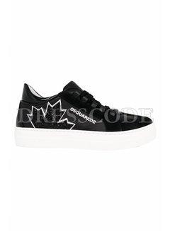 1. DSQUARED2 Dsquared2 sneaker met glitter blad Zwart
