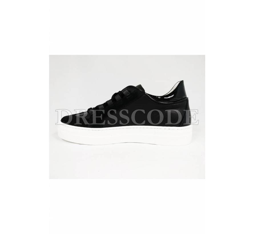 Dsquared2 zwarte sneaker met glitter blad