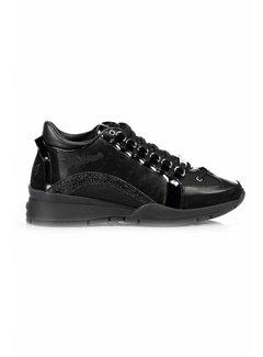 1. DSQUARED2 Dsquared2 sneaker met glitter boog zwart