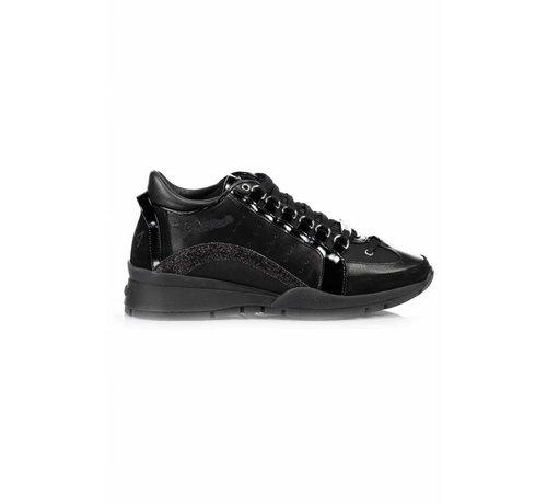 1. DSQUARED2 Dsquared2 551 sneaker met glitter boog zwart