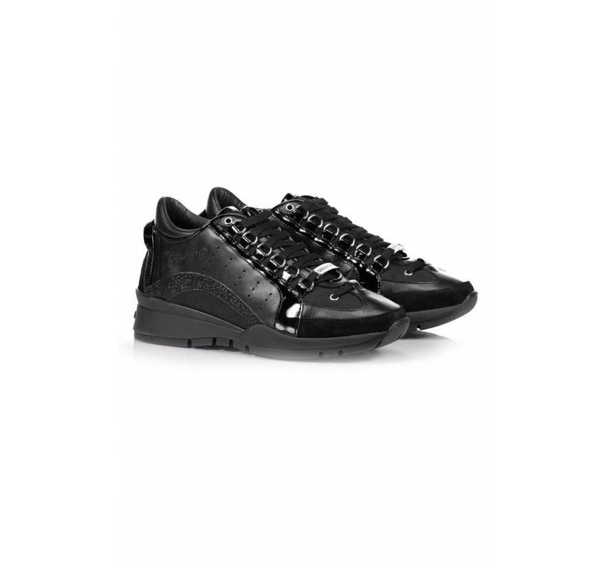 Dsquared2 551 sneaker met glitter boog zwart