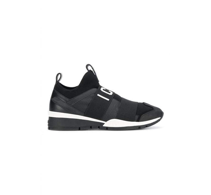 Dsquared2 sneaker met Icon logo zwart wit