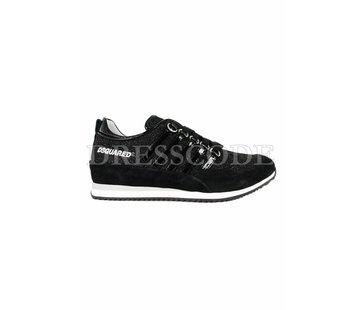 1. DSQUARED2 Dsquared2 sneaker in glitter en lak strepen Zwart