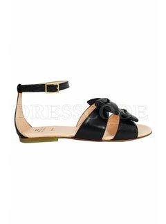2. ELISABETTA FRANCHI Elisabetta Franchi sandaal met strikken zwart