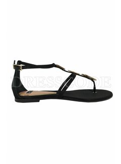 2. ELISABETTA FRANCHI Elisabetta Franchi sandaal met logo zwart