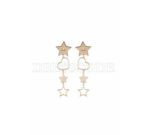 2. ELISABETTA FRANCHI Elisabetta Franchi gouden oorbellen met sterren en een hartje