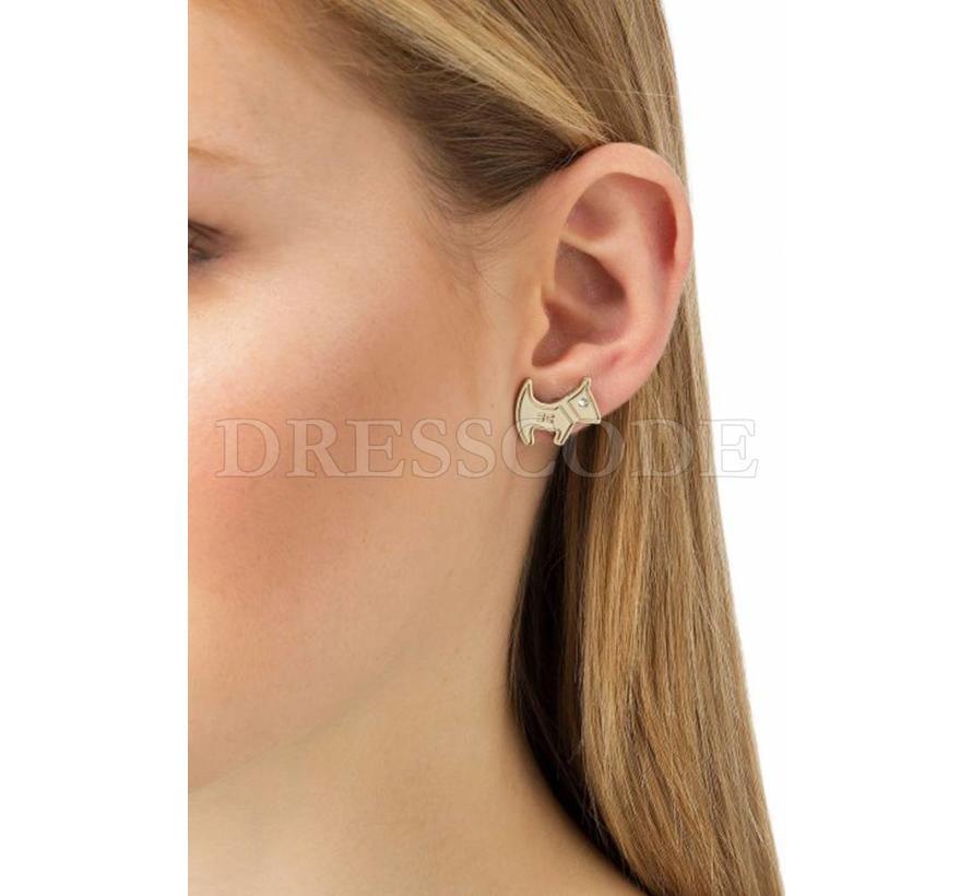 Elisabetta Franchi gouden kleine oorbellen serie van 3
