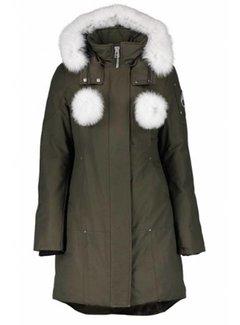 MOOSE KNUCKLES Moose Knuckles Real fur Stirling parka groen-wit