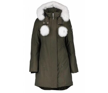 MOOSE KNUCKLES Moose Knuckles Real fur Stirling parka groen-wit