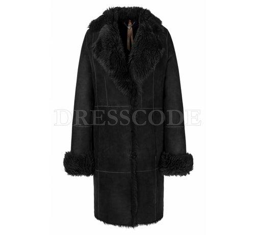 MARC CAIN Marc Cain zwarte lammy coat