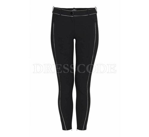 2. ELISABETTA FRANCHI Elisabetta Franchi zwarte pantalon met contrasterende streep