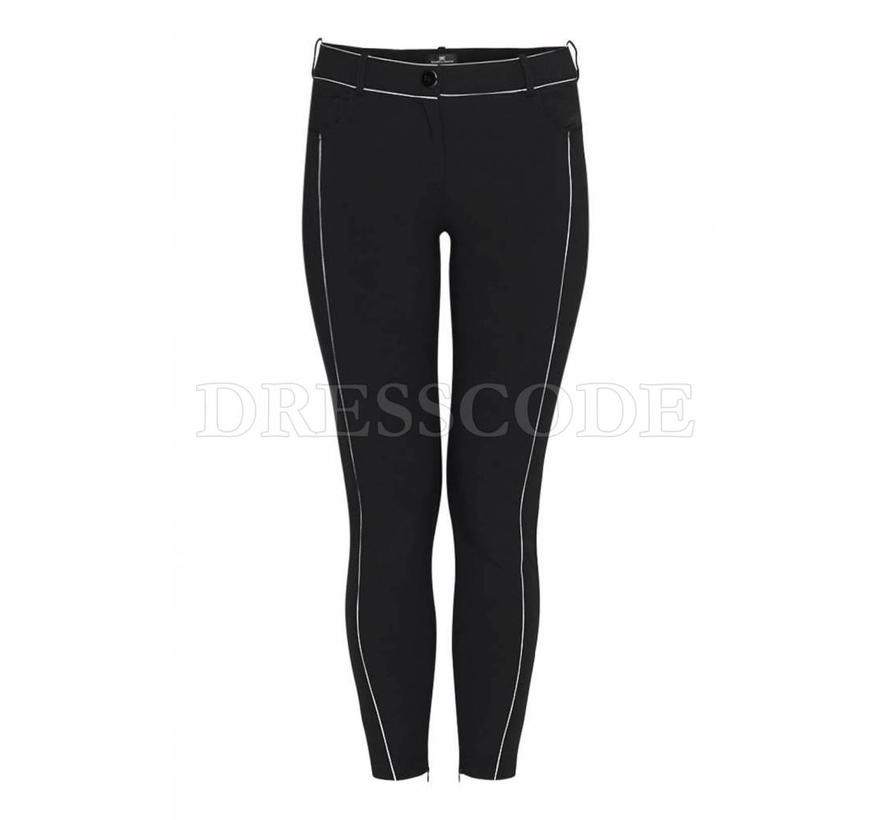 Elisabetta Franchi zwarte pantalon met contrasterende streep