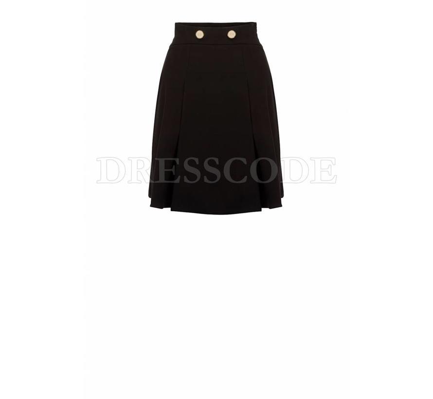 Elisabetta Franchi zwarte rok met gouden knopen
