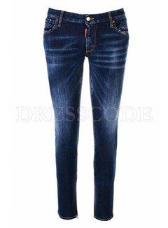 1. DSQUARED2 Dsquared2 medium waist plain twiggy jeans met rits denim