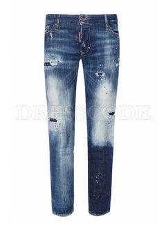 1. DSQUARED2 Dsquared2 jennifer destroyed jeans met groene spetters denim