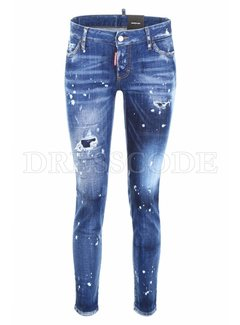 1. DSQUARED2 Dsquared2 jeans met witte spetters Blauw