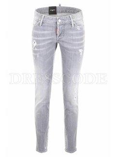 1. DSQUARED2 Dsquared2 Jennifer jeans met witte spetters grijs