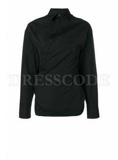 1. DSQUARED2 Dsquared2 blouse met merknaam in kraag zwart