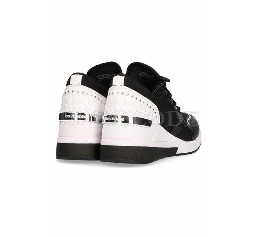 92c3135bd88 Michael Kors zwarte sneaker Liv trainer MK logo achterop - Dresscode