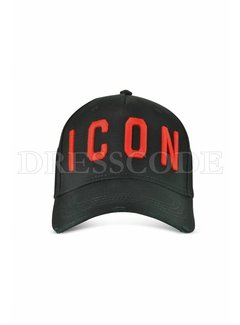 1. DSQUARED2 Dsquared2 Icon pet in zwart met rood