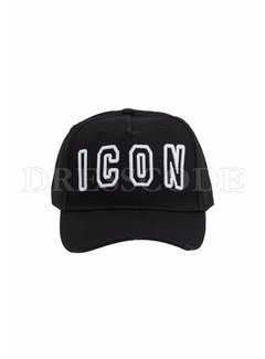 1. DSQUARED2 Dsquared2 baseball cap open Icon Zwart