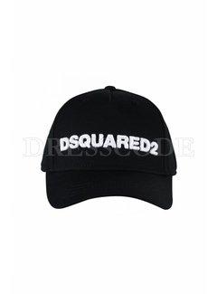 1. DSQUARED2 Dsquared2 baseball cap met DSQUARED2 Zwart