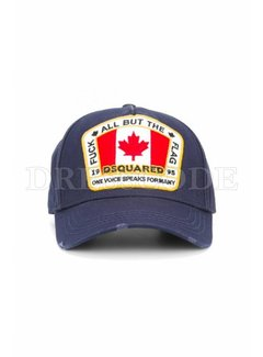 1. DSQUARED2 Dsquared2 baseball cap Canadian flag Blauw
