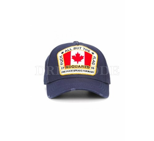 1. DSQUARED2 Dsquared2 blauwe pet met Canadian flag
