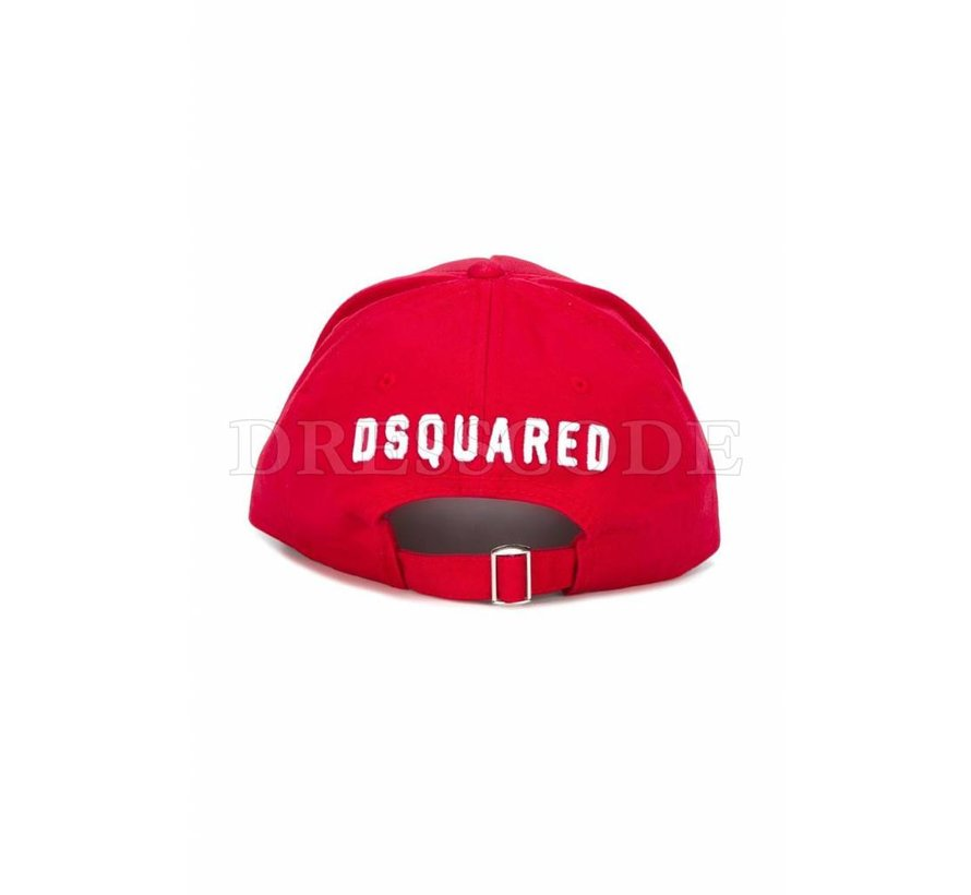 Dsquared2 Rode pet met witte ICON