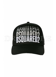 1. DSQUARED2 Dquared2 baseball cap 3x Dsquared2 Zwart